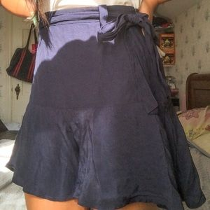 ZARA New Navy Blue Flowy Skirt Size: Small